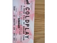 2 x COLDPLAY Tickets - 18th July @ Stade de France, Paris.