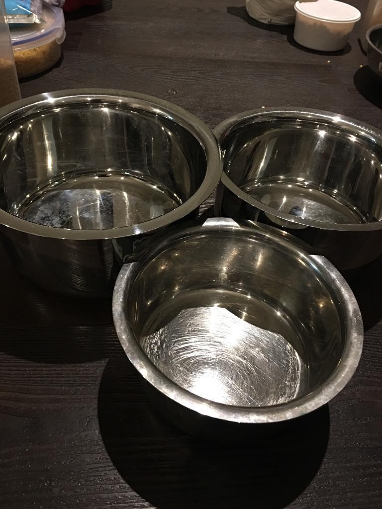 Set of 3 - induction vessels