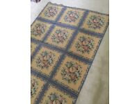 "Colefax and Fowler stunning rug in blue and gold fruit pattern 531/2"" X 74"""