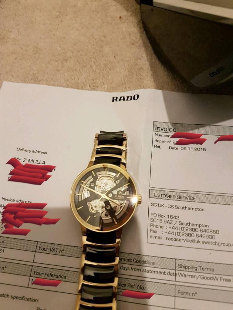 Rado Skeleton Centrix cost £2200 receipt paperwork watch | in Blackburn,  Lancashire | Gumtree