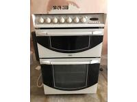 Belling double electric oven with gas hob.