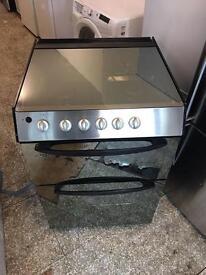 Black Indesit gas cooker 60cm