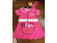 Girls Let's Play Beautician Outfit Ages 3-5 (Pink)