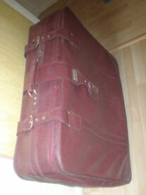 Leather Suitcase With Wheel At Very Cheap Price ( Red) to sale in total of £25