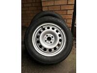 Snow/mud tyres on steel wheels for MINI or similar: 195/60 R 15