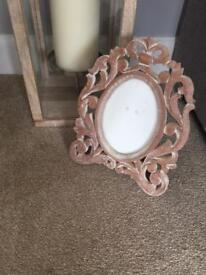 DUNELM MILL pair of photo frames - large