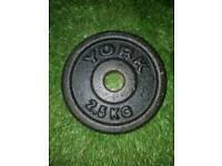 10×2.5kg York plates
