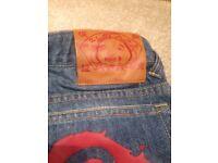 Brand new with tag EVISU Kids Blue Denim Jeans