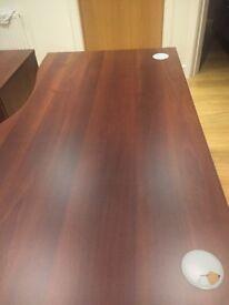 Right hand corner office desk
