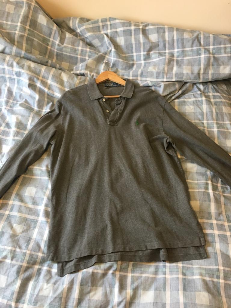 0dfe4cc4 amazon ralph lauren long sleeve polo shirt charcoal grill 1ce7f b8b9a