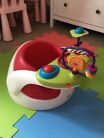 Mamas & Papas Baby Bumbo Snug Seat with play tray and toy attachments