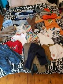 Bag of boys baby clothes