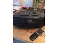 JVC Portable CD, tape and radio in good working condition