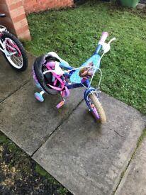 Little girls Elsa bike