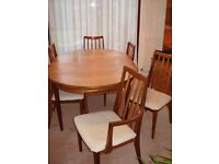 EXTENDING OVAL DINING TABLE & CHAIRS