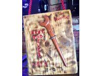 Fathers Day Present - Unusual - Handmade - Scaffold Board - Best Dad Ever Keys holder - spanner