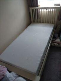 Single bed and memorie foam mattress