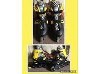 Adjustable size 4-7 unisex roller blades inline skates
