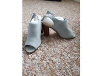 Brand New Light Blue Block Heels Size 8