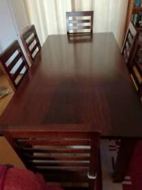Lovely tulip wooden dining table and chairs