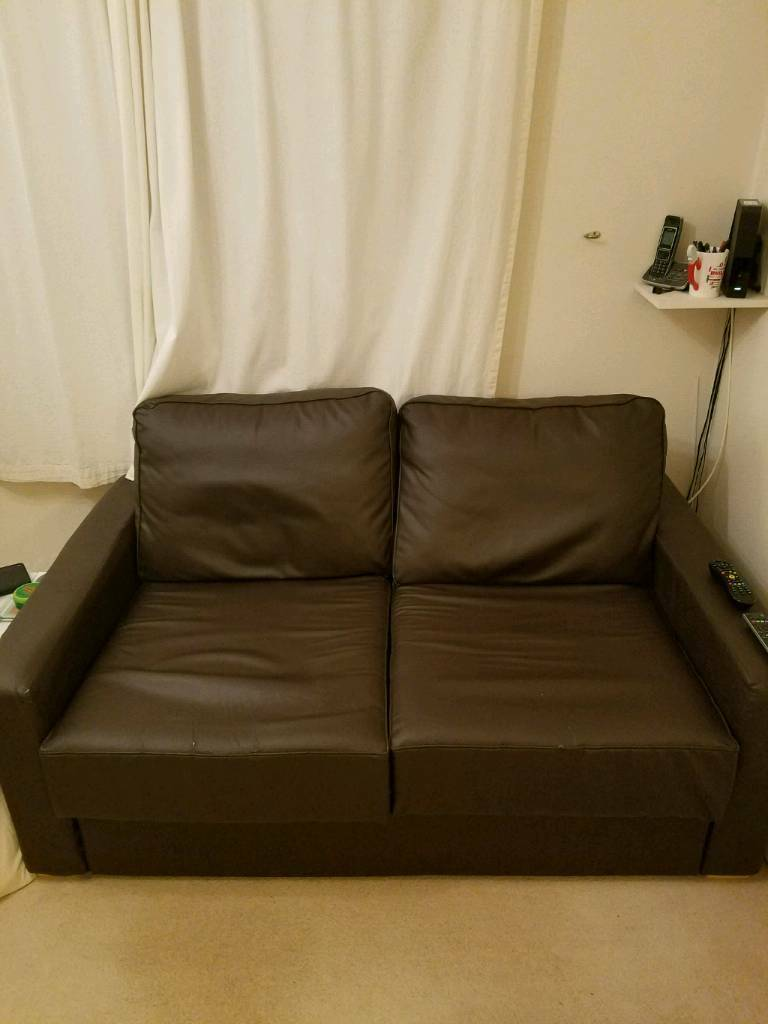 Cool Flat Pack Leather 2 Seater Sofa With Storage In Colchester Essex Gumtree Machost Co Dining Chair Design Ideas Machostcouk
