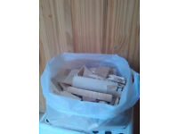 Kindling / firewood cut ready in carrier bags great to start a fire
