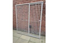 Galvanised dog panel with door