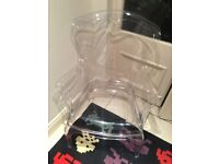 Philip Stark acrylic clear arm chair