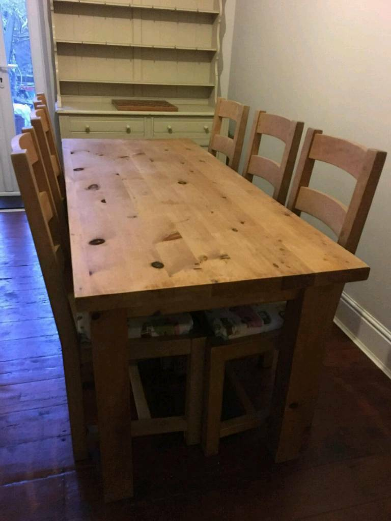solid wood kitchen table  6 chairs  in cathays cardiff