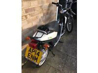 Electric Yamaha moped with only 350 miles since new.