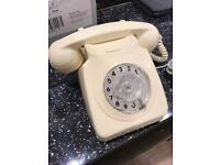 Vintage cream phone, refurbished