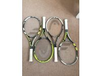 Tennis Rackets For Sale. Babolat, Wilson, Head. Adults and Junior Rackets