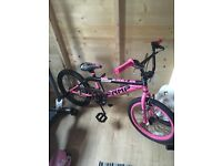 Girls 20 inch bmx bike only used once and kept indoor at all times excellent condition