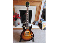 Les Paul Florentine Epiphone by Gibson, sunburst, fitted case.