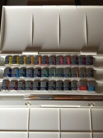Windsor and Newton Watercolours and Brush, brand new.