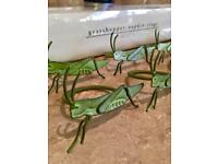 8 pier Grasshopper Napkin Rings