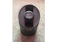 MENS CITIZEN SKYHAWK BLACK EAGLE WATCH - IMMACULATE CONDITION (NEARLY NEW)