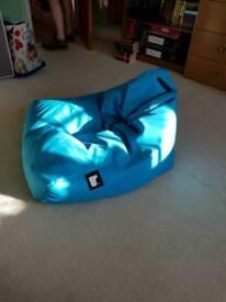 Mighty-b bright blue fun size bean bag chair