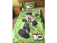 Ben 10 duvet cover, pillowcase, towel and wallet