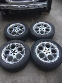 Alloy wheels in great condition and loads tread left on these