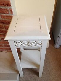 Solid Wood occasional table side table white