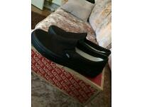 Black Classic Slip-On Vans Size 6
