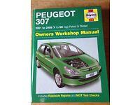 Haynes Peugeot 307 car manual