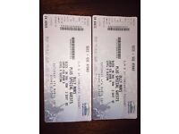 Two Olly Murs VIP Tickets for sale for £290 - Both must go!