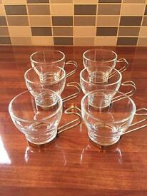 Set of 6 small coffee cups