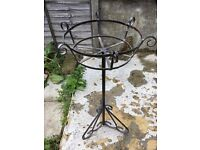 Antique Cast Iron . Free standing . Planter