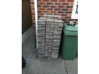 324 used driveway block paving bricks
