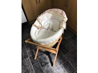 Mamas and Papas Deluxe Moses basket and stand