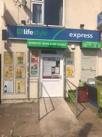 Off Licence for sale with accommodation