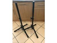 NJS Speaker tripod stands (x2) - 4 ft height